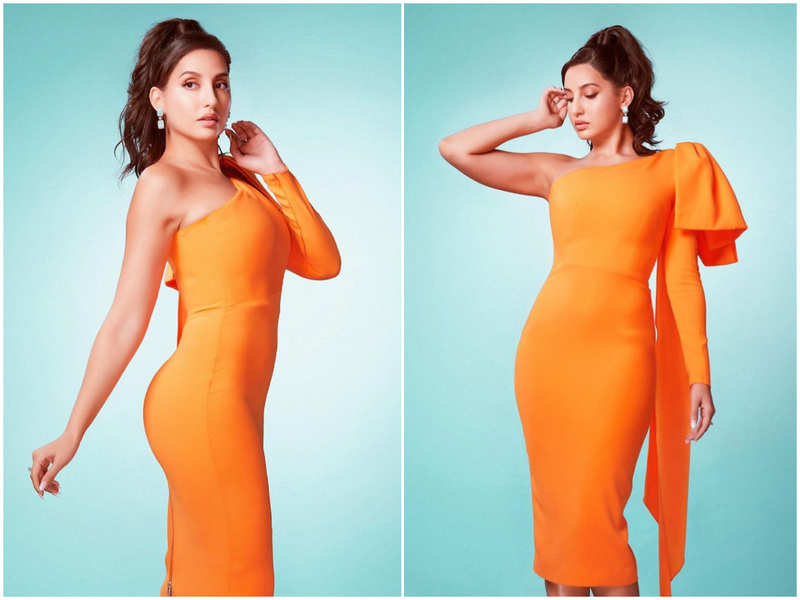 Nora Fatehi makes a serious case for orange being the new black this summer