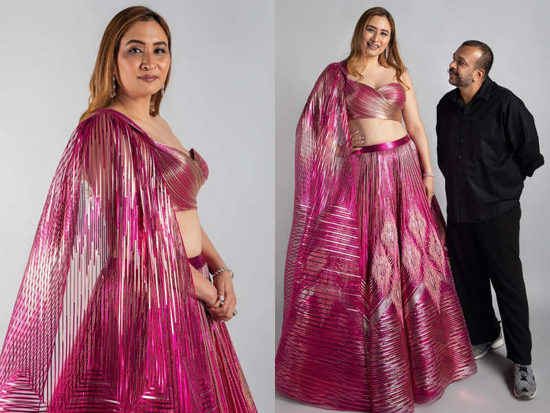Badminton player Jwala Gutta wore the most gorgeous lehenga for her Cocktail function