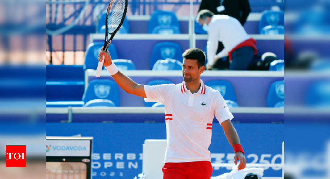 Two-time champion Djokovic eases into Belgrade semi-finals   Tennis News – Times of India