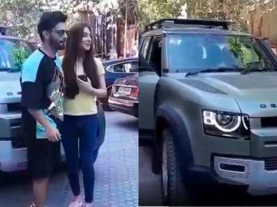 Rahul-Disha test drive a luxury car, watch