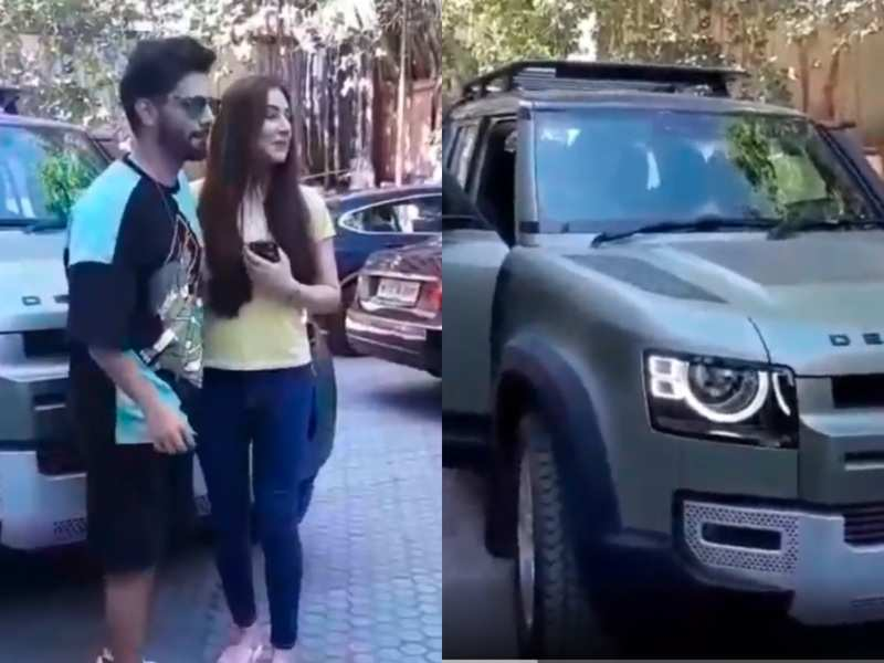 Rahul Vaidya goes for a test drive of a luxury car with girlfriend Disha Parmar; watch video