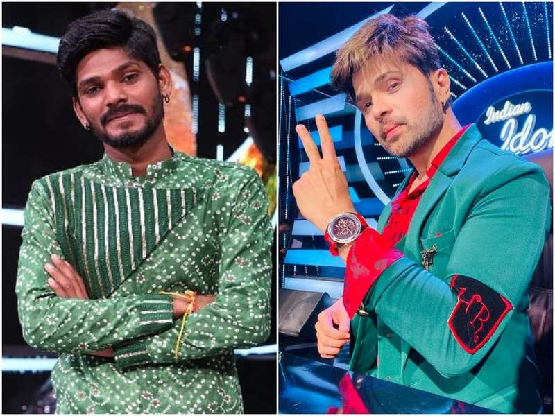 Sawai Bhatt and Himesh Reshammiya in Indian Idol 12