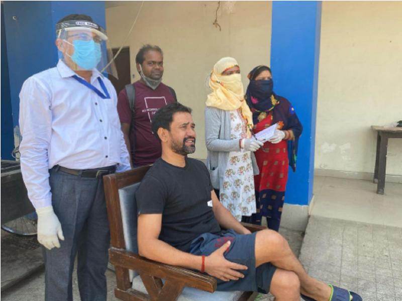Nirahua repeats COVID-19 test after 14 days of quarantine