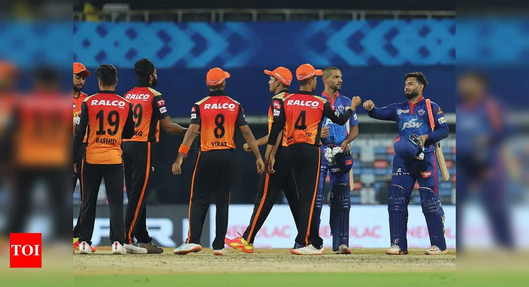 SRH vs DC Live Score, IPL 2021: Struggling Sunrisers take on high-flying Capitals on sluggish Chepauk  – The Times of India