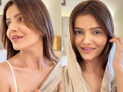 Rubina flaunts her chain with initials 'RUBY'