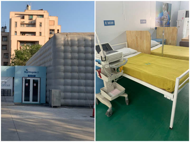 Mobile theatres turned into hospital beds for Covid-19 relief work
