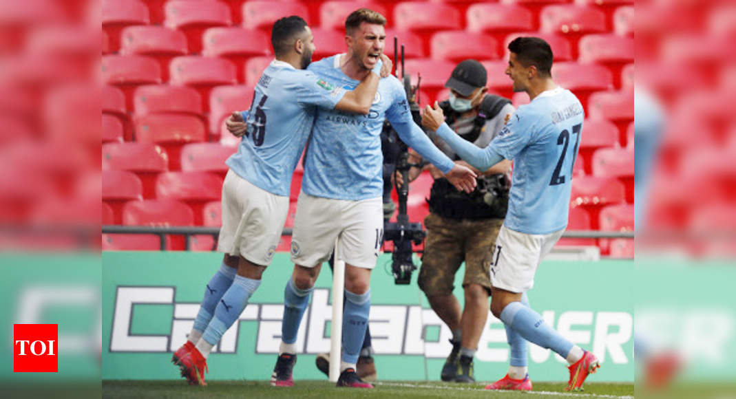 Laporte header seals League Cup triumph for Manchester City   Football News – Times of India