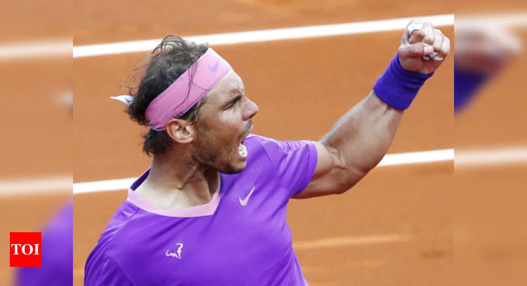 Nadal saves match point to beat Tsitsipas for 12th Barcelona title   Tennis News – Times of India