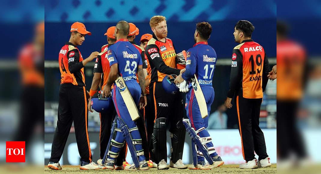 ipl 2021:  IPL: Delhi Capitals prevail over Sunrisers Hyderabad in Super-Over drama | Cricket News – Times of India