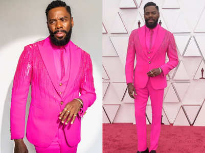 Oscars 2021: Colman Domingo's hot-pink suit!