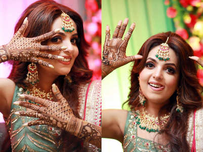 Inside Sugandha Mishra's Mehendi ceremony