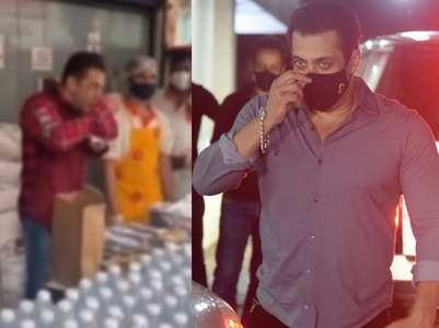 Salman checks food packs sent for covid-workers