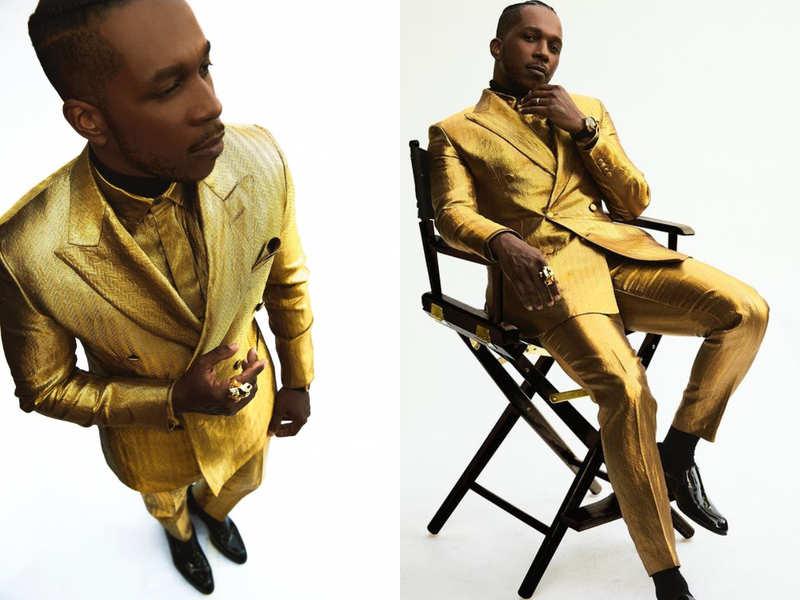 Leslie Odom Jr.'s Brioni suit is made of 24k gold