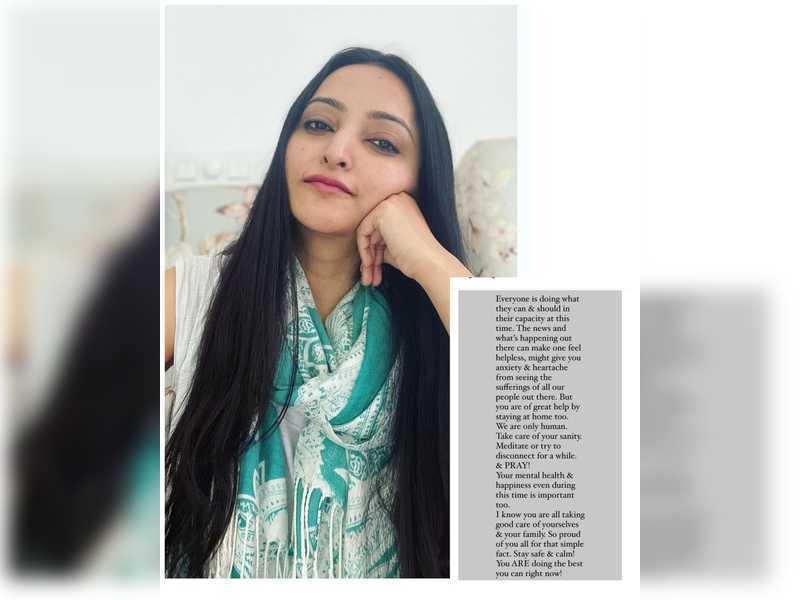 Meghana Gaonkar puts the spotlight on mental health in her recent post