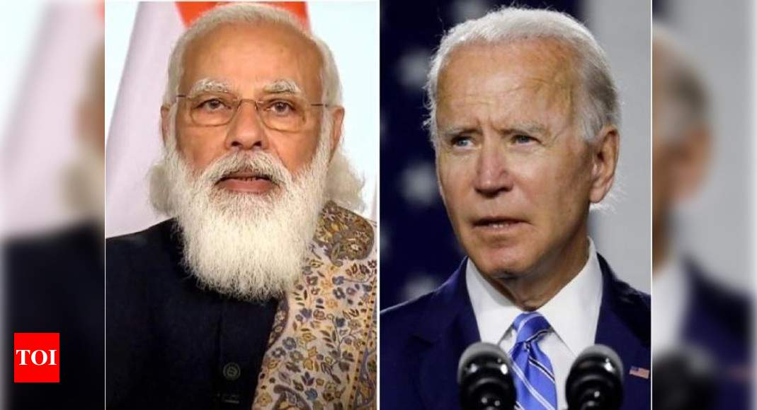 President Biden phones PM Modi to discuss Covid; US jolted into action after criticism of silence over In - Times of India