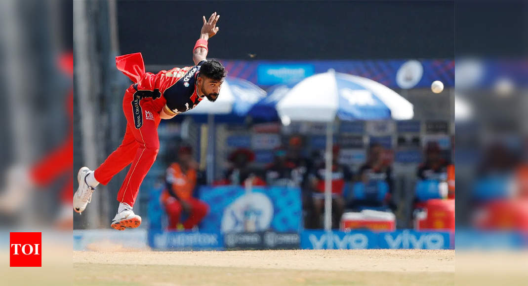 IPL 2021: RCB pacer Mohammed Siraj makes the most of art and graft | Cricket News – Times of India