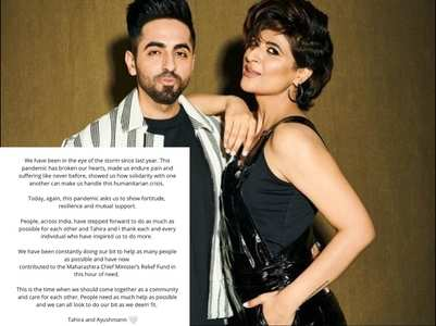Ayushmann contributes to Covid relief fund
