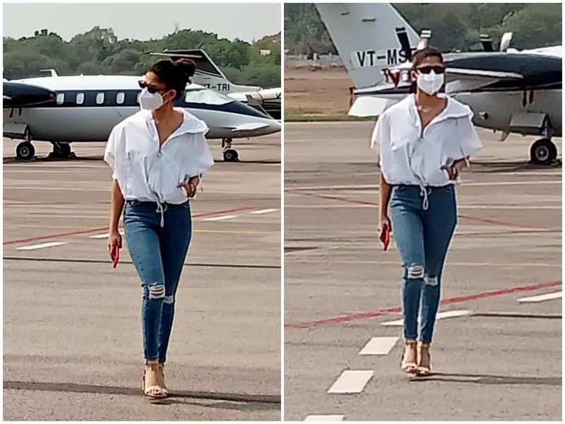 Nayanthara reaches Hyderabad to join Rajinikanth's Annaatthe shoot