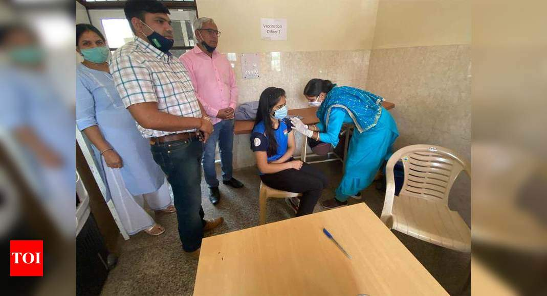 Olympic-bound shooter Manu Bhaker receives first dose of COVID vaccine   More sports News – Times of India