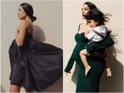 Pics: Lisa Haydon shows off her baby bump