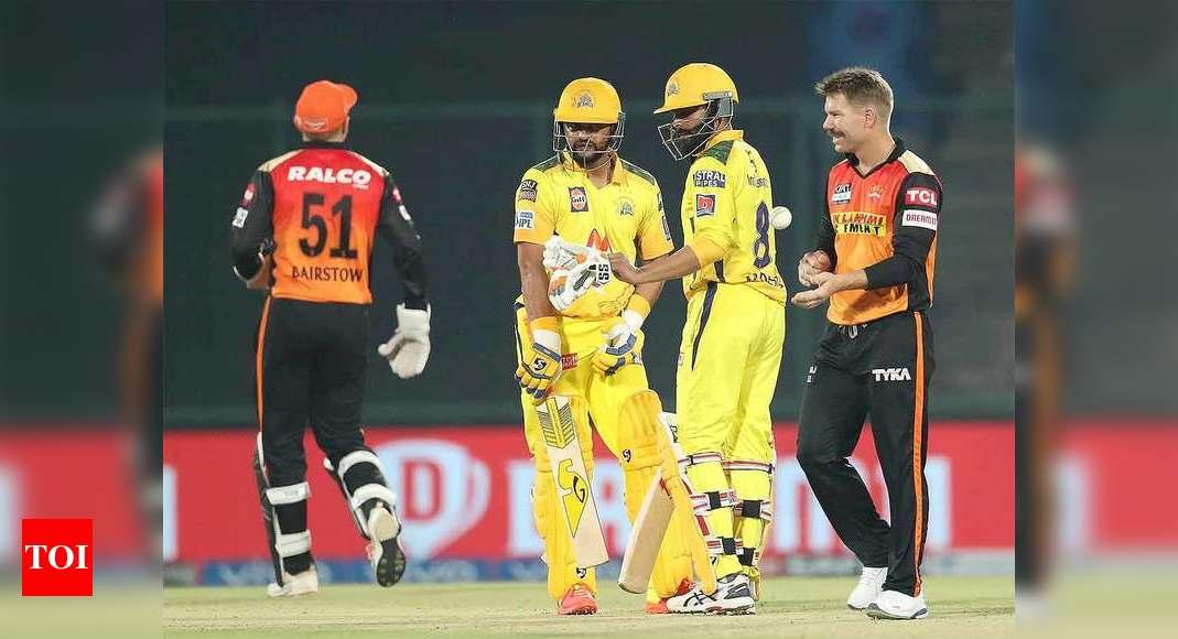 CSK vs SRH Live Score, IPL 2021: Chennai Super Kings start favourites against inconsistent Sunrisers Hyderabad – The Times of India