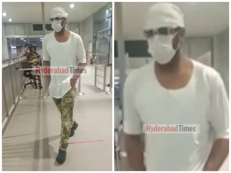 Prabhas oozes swag in white as he's spotted at Hyderabad Airport