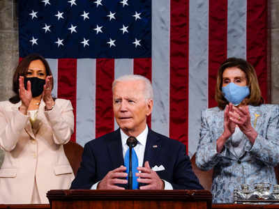 Harris and Pelosi make history at Biden's joint address to Congress