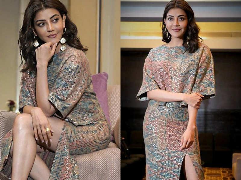 Kajal Aggarwal just wore carpet print skirt and blouse!