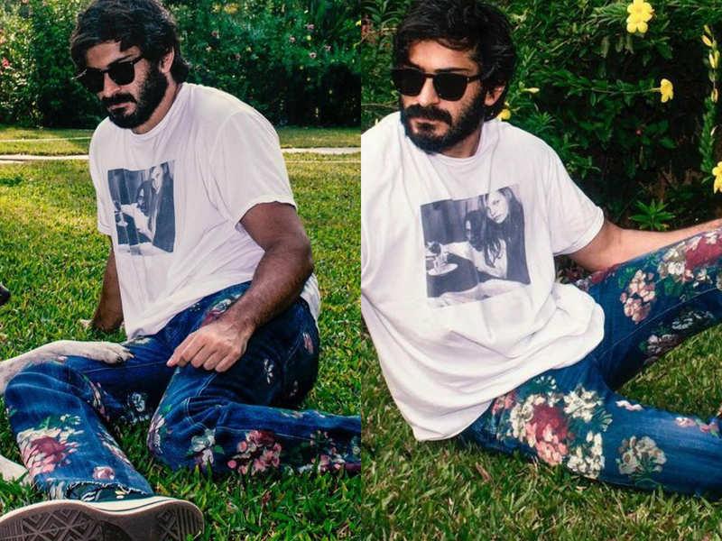 Harsh Varrdhan Kapoor rocks floral denims