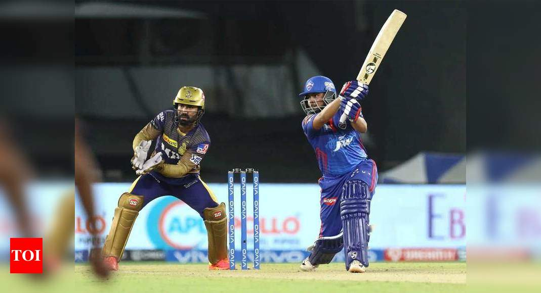 IPL 2021,DC vs KKR: Prithvi Shaw's stunning six fours in an over sets up DC's 7-wicket win over KKR | Cricket News – Times of India