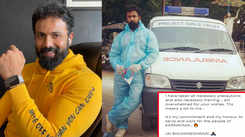 Actor Arjun Gowda turns ambulance driver to help people amid COVID-19 pandemic