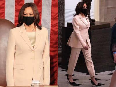 Kamala Harris wears Prabal Gurung suit