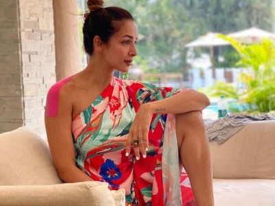 Malaika Arora's one-shoulder kaftan