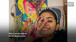 Nimisha Sajayan enjoys being covered in paint