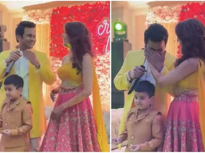 Sanket breaks into tears at his engagement