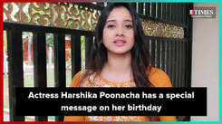 Harshika Poonacha has a special message on her birthday