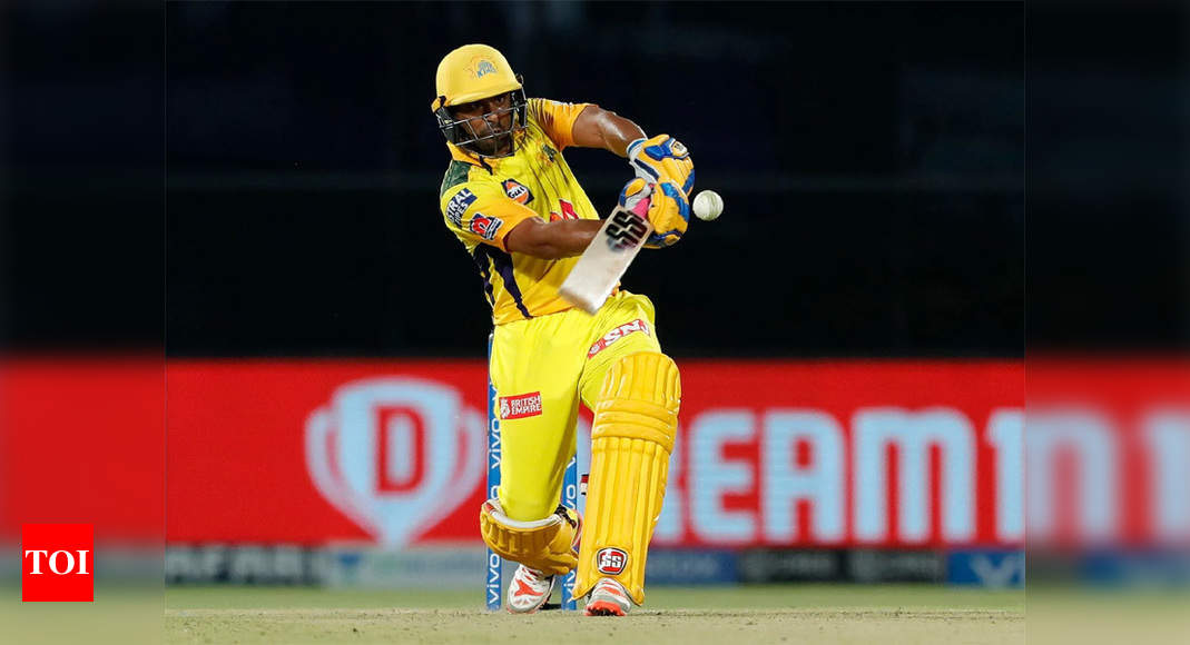 Ambati Rayudu powers CSK to 218/4 against MI after Moeen, du Plessis onslaught   Cricket News – Times of India