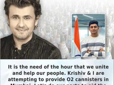 Sonu Nigam arranges oxygen canisters