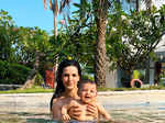 This adorable pool picture of Natasa Stankovic with her baby boy you just can't give a miss!