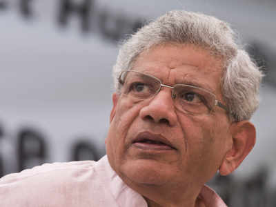 Grotesque decision of the government to continue with the Central Vista project: Yechury | India News