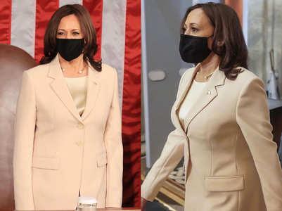 Netizens debate over the colour of Kamala Harris' pantsuit