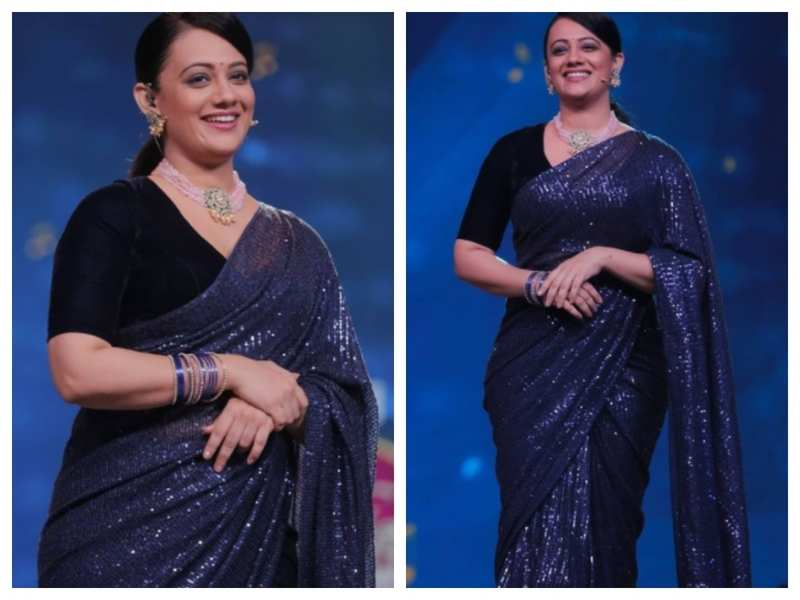 This picture of Spruha Joshi in a stunning sequin saree will drive away your 'Monday blues'