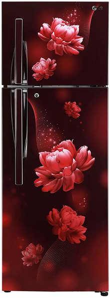 LG Double Door 308 Litres 2 Star Refrigerator Scarlet Charm GL-T302SSCY