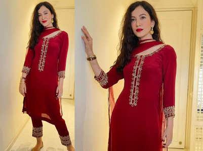 Gauahar Khan's red kurti look
