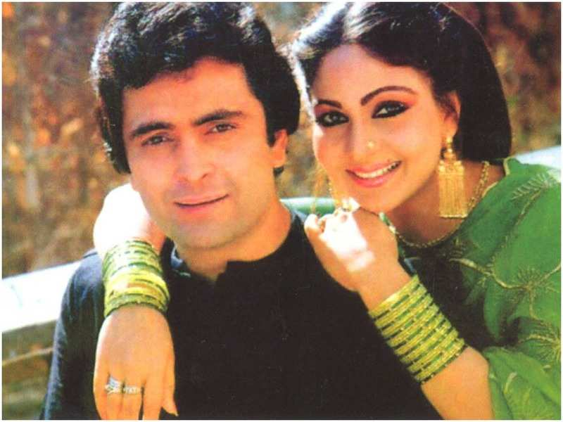 Rati Agnihotri during her working days with the legendary actor Rishi Kapoor