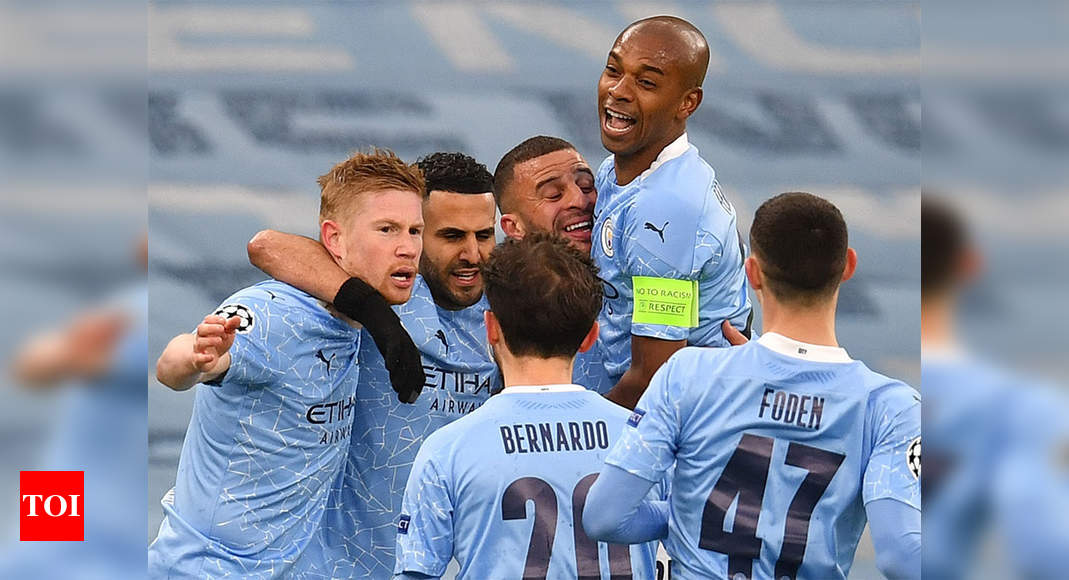 Mahrez double takes Manchester City to first Champions League final   Football News – Times of India