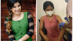 Sakshi Agarwal gets her first dose of vaccine