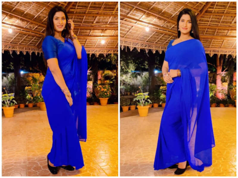 Poonam Dubey's latest saree pictures are unmissable!