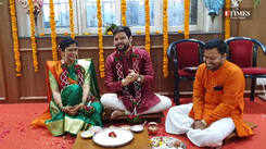 #Exclusive -  A special moment from Kshitish Date and Rucha Apte's wedding in Pune