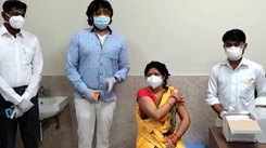 Ravi Kishan visits COVID-19 vaccination centre in Gorakhpur